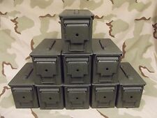 9(Nine) Military Surplus 50Caliber (M2A1) Ammo Cans .50cal Grade 2  Good