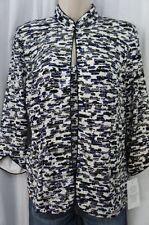 Alex Evenings Top Sz S Cobalt Multi Glitter Two Piece Tank Jacket Blouse Formal