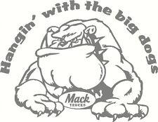 Mack Bulldog, Hangin with the big dogs, Windscreen, Sticker Decal 190 x 145mm