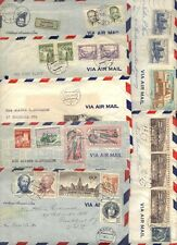 CZECHOSLOVAKIA 1950s COLL OF 22 AIRMAIL CVR ALL TO US ALMOST ALL W/LTRS ENCLOSED