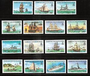 TURKS & CAICOS # 578a-592a MNH BOATS & SHIPS