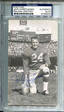 Jack Christiansen Signed JD McCarthy Postcard 3x5 PSA/DNA Autographed Lions