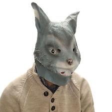 Latex Mask Grey Rabbit Full Head Overhead Funny Animal Cosplay Halloween Fancy