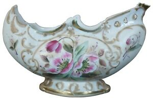 Antique Porcelain Hand Painted White & Pink Rose Jardiniere