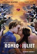 Romeo and Juliet Movie POSTER 11 x 17 Leonardo DiCaprio, Claire Danes, C