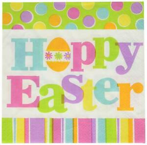 Easter Expressions Bunny Rabbit Spring Holiday Theme Party Luncheon Napkins