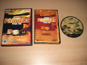 Codename PANZERS Phase Two 2 Pc DVD Rom Original with Manual - FAST DISPATCH