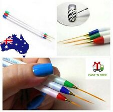 3pcs Nail Art Acrylic Tips Liner Drawing Brush Pen UV Gel Painting Striping
