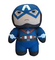 "Captain America Avengers Assemble Marvel Plush 6"" Stuff Animal Toy Movable Head"