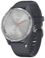 Garmin Vivomove 3S Smartwatch with Silicone Band Granitblau/Silver 010-02238-00
