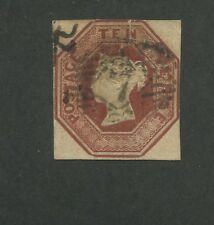 1848 Great Britain United Kingdom Queen Victoria 10 Pence Postage Stamp #6
