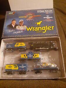 1999 dale earnhardt sr 3 wrangler 6 piece train set 1 64th scale diecast