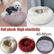2019 Pet Dog Cat Calming Bed Round Nest Warm Soft Plush Sleeping Bag Comfy Flufy