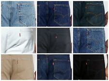 Levis 501 Jeans Levi's Blue Black White Stonewashed Beige Red 32 34 36 30 38 40