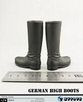 "1:6 ZYTOYS WWII High Boots Shoes Model ZY1022 Fit 12"" Male Solider Figure Doll"