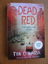 Tim O'Mara Dead Red 1st SIGNED ARC SC Near Fine