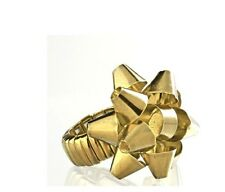 New Avenue Gold-Tone Bow Stretch Ring Orig $10 Free Shipping!