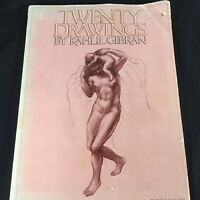 20 Drawings By Kahlil Gibran 1974 First vintage book Edition copyright 1919 PB
