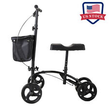 Adjustable Height  Heavy Duty Knee Walker Scooter w/Soft Pad Brake Easy Operated