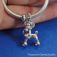 Silver POODLE Dog Dangle Bead CHARM fits EUROPEAN Bracelet