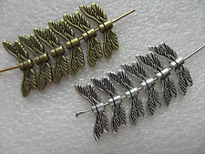 10 - 200 Dragonfly Wing Charms Silver Bronze - Craft Jewellery Making UK Seller