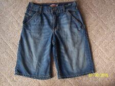 Big Boys LEVI'S shorts Size 18 100% cotton Denim DISTRESSED
