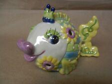 Angel Fish Tea Light / Ceramic Beautiful Colors - Lookie See !