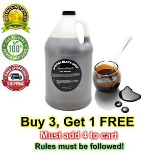 Gallon Liquid Raw African Black Soap from Ghana 100% Pure and Natural Body Face