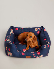 New listing Joules dog Floral Box Bed - Plush Cushion