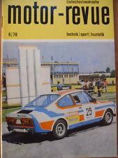 Tschechoslowakische MOTOR REVUE  6 - 1978 Salon Genf Eisspeedway AVIA A30 Jawa