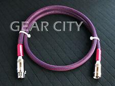 cxe01 1m 3ft AES/EBU Digital Audio Cable Silver Balanced XLR Plug Pre Amp HiFi