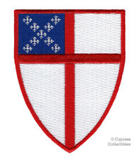 EPISCOPAL SHIELD EMBROIDERED PATCH JESUS RELIGIOUS IRON-ON CHRISTIAN BIKER LOGO