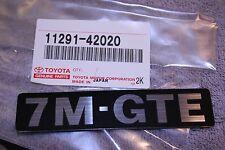 7M-GTE Engine Name Plate - 1987-1992 Supra Turbo - Genuine Toyota 7MGTE