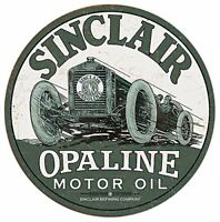 Sinclair Race Car Vintage Retro Round Tin Metal Sign 12 x 12in