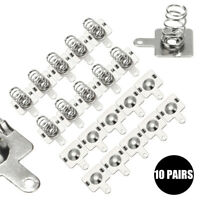10 Pairs Silver Metal Battery Spring Plate for AA AAA Batteries 14.5mm*9mm TB