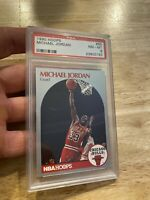 Michael Jordan PSA 8 LAST DANCE NBA Hoops 1990 #65 Card Collector Chicago INVEST