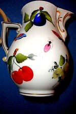 Herend Cream/Milk /Syrup Jug Creamer Fruits & Flowers Pattern, Heavily Painted