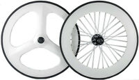 700C Fixed Gear Carbon Wheelset Front 70 Tri Spoke Wheel Rear 88mm Track Wheels