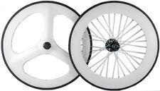 700C Fixed Gear Carbon Wheelset Front 70 Tri Spoke Wheel Rear 88mm Track Wheels
