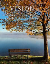 Warren Buffett Quote Vision Motivational Poster Art Print Wall Street  MVP591