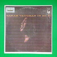 SARAH VAUGHAN In Hi Fi EN13084 LP Vinyl VG++ Cover VG+