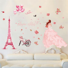Wedding Dress Paris Room Home Decor Removable Wall Sticker Decal Decoration