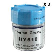 2x Pâte Thermique 20g HY510 Silicone gris Graisse radiateur Conducteur CPU GPU