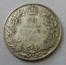 1918 Canada .925 Silver 50 Cent Half Dollar