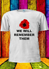 Poppy Day Remembrance Annual 8th T-shirt Vest Tank Top Men Women Unisex 2186