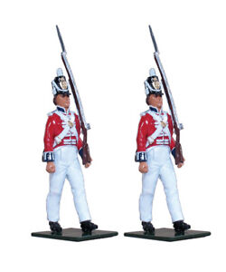 W BRITAINS 48002 COLDSTREAM REGIMENT OF FOOT GUARDS ENLISTED MARCHING SET (UV9)