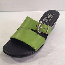 Aerosoles Aerology Women's Size 7 Leather SANDALS Buckle Trim Green