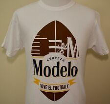 Modelo Beer t-shirt white medium Vive el football Mexico NFL brewery