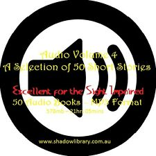 CD - 50 Short Stories Audio Books Vol 4 - Sight Impaired, Blind  - Resell