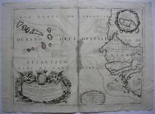 Cabo Verde Kapverdische Inseln Afrika altkolor Orig Kupferstichkarte 1677